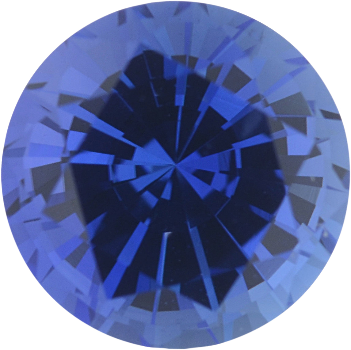 1.09 carats Blue Loose Sapphire Gemstone in Round Cut, 6 mm