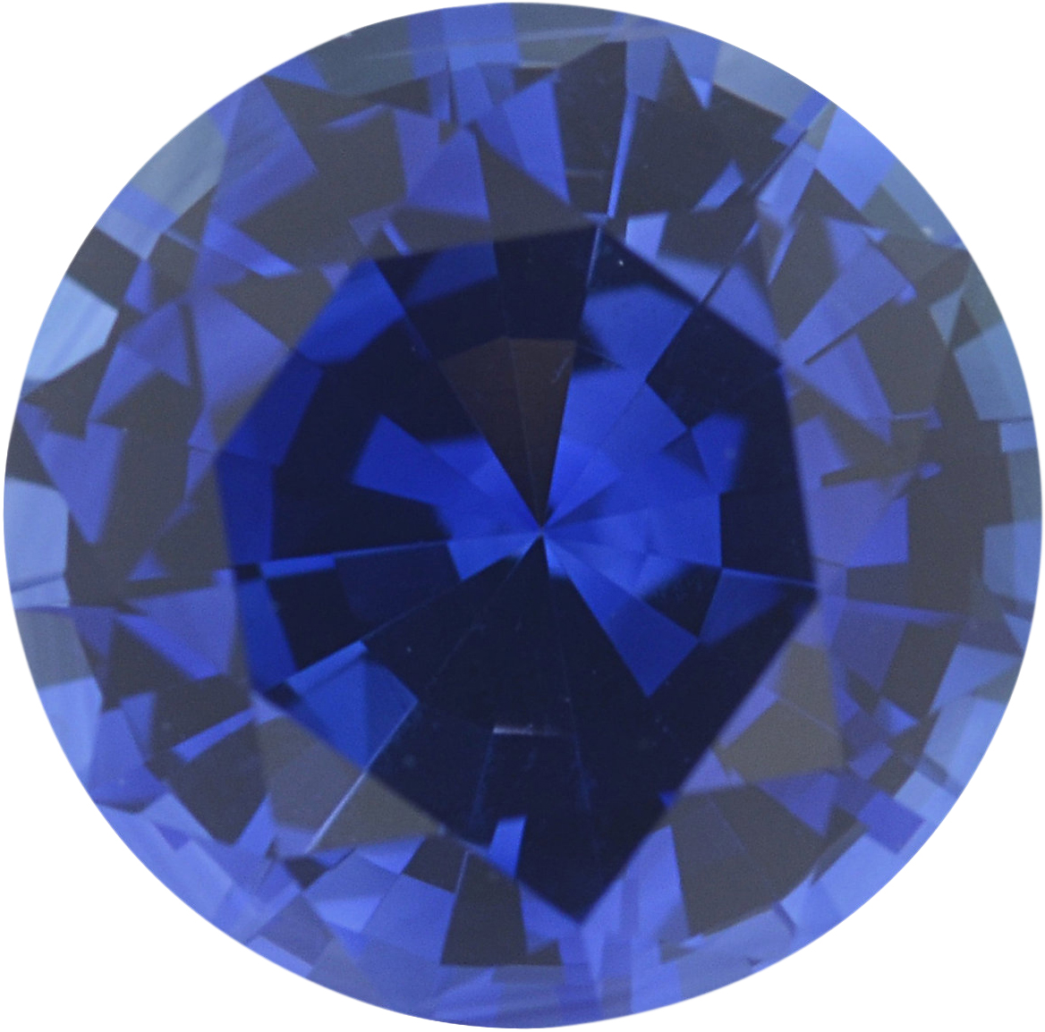 0.98 carats Blue Loose Sapphire Gemstone in Round Cut, 6.11 mm