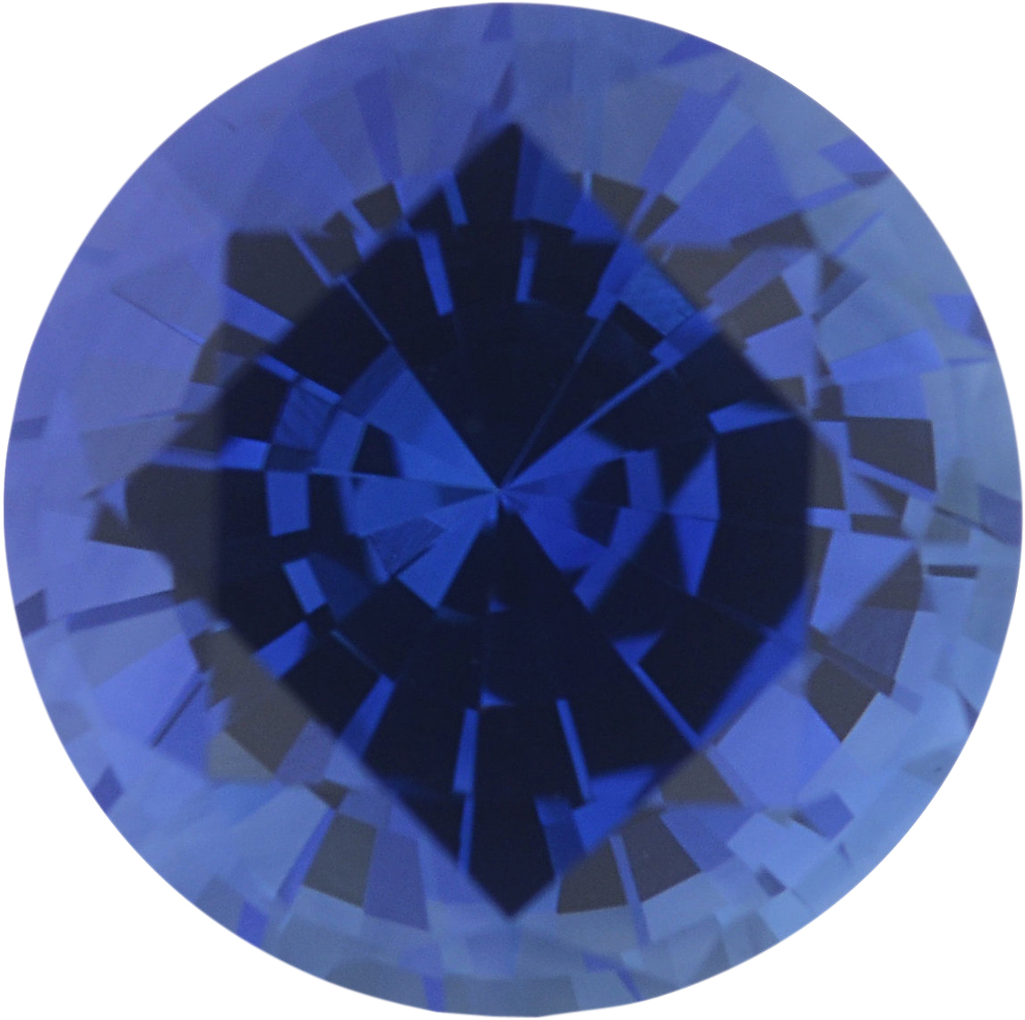 1.05 carats Blue Loose Sapphire Gemstone in Round Cut, 5.92 mm