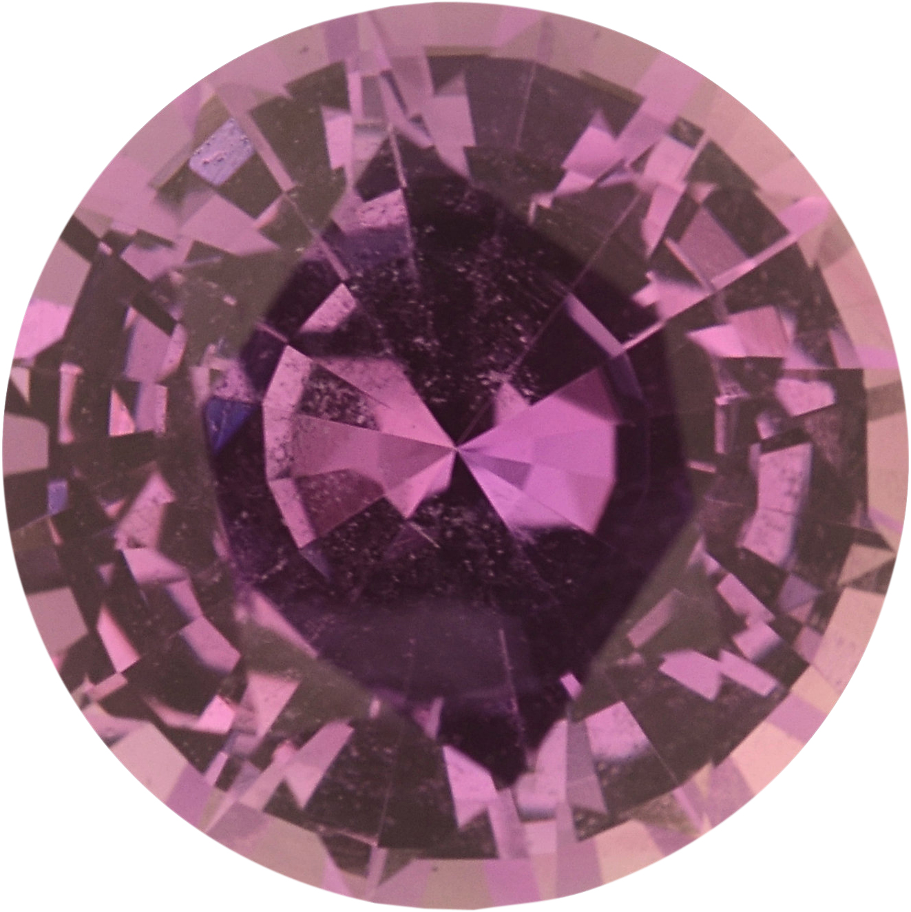 1.33 carats Purple Loose Sapphire Gemstone in Round Cut, 6.61 mm