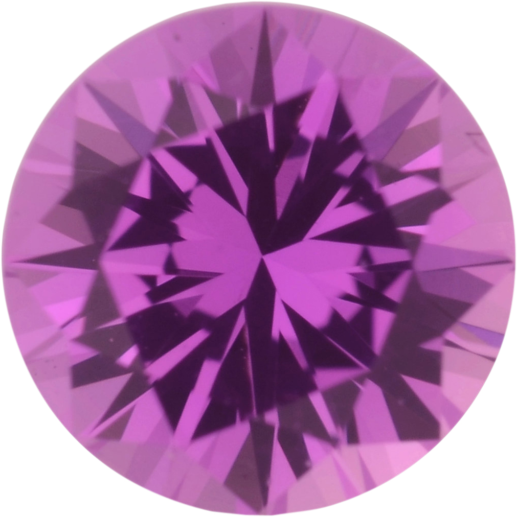 0.58 carats Pink Loose Sapphire Gemstone in Round Cut, 4.99 mm