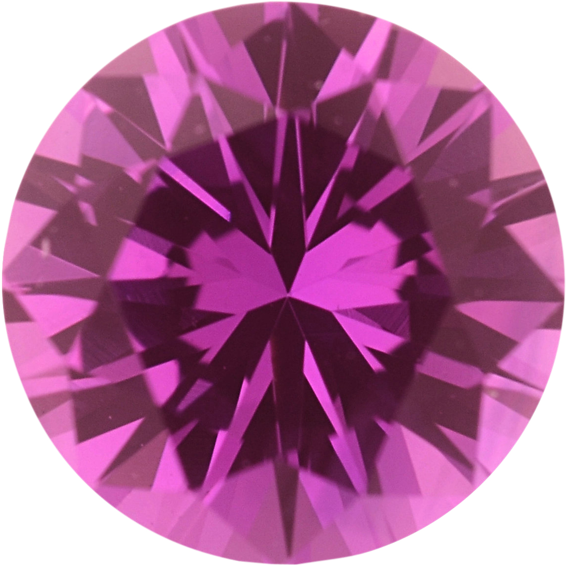 0.7 carats Pink Loose Sapphire Gemstone in Round Cut, 5.47 mm