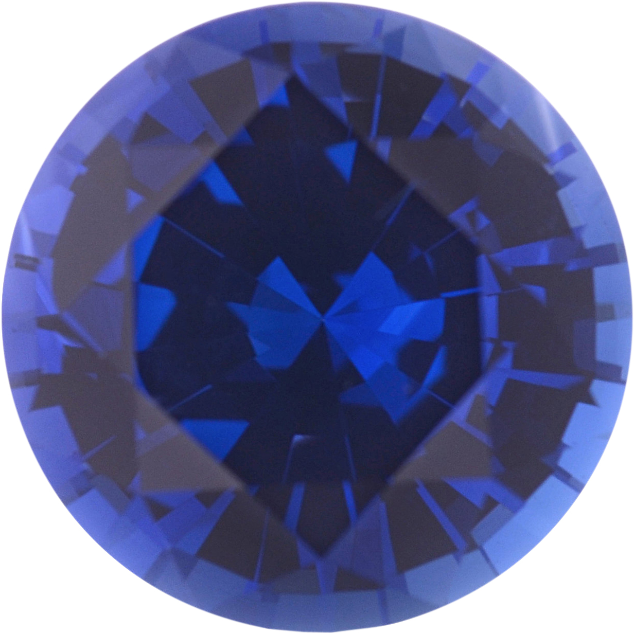 0.97 carats Blue Loose Sapphire Gemstone in Round Cut, 5.97 mm