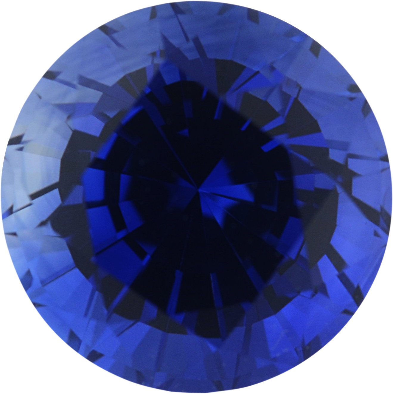 1.38 carats Blue Loose Sapphire Gemstone in Round Cut, 6.33 mm