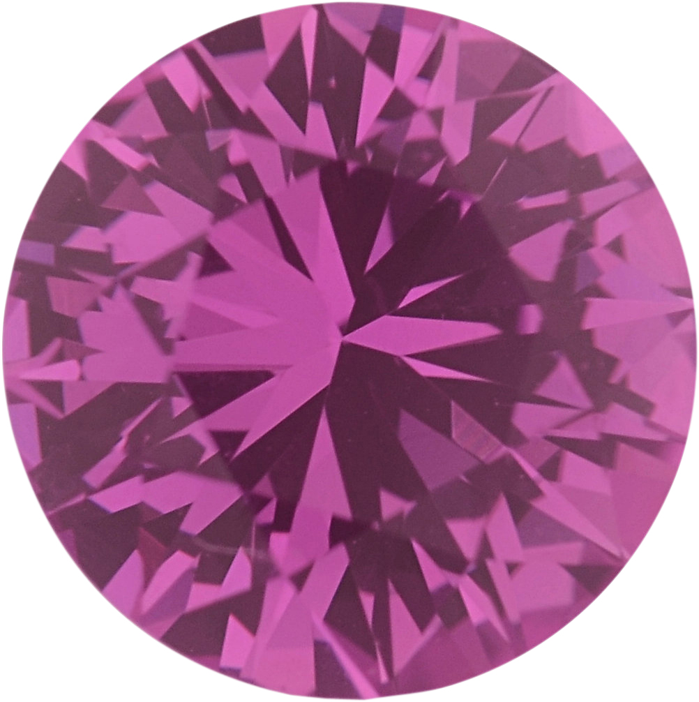 0.89 carats Pink Loose Sapphire Gemstone in Round Cut, 5.91 mm