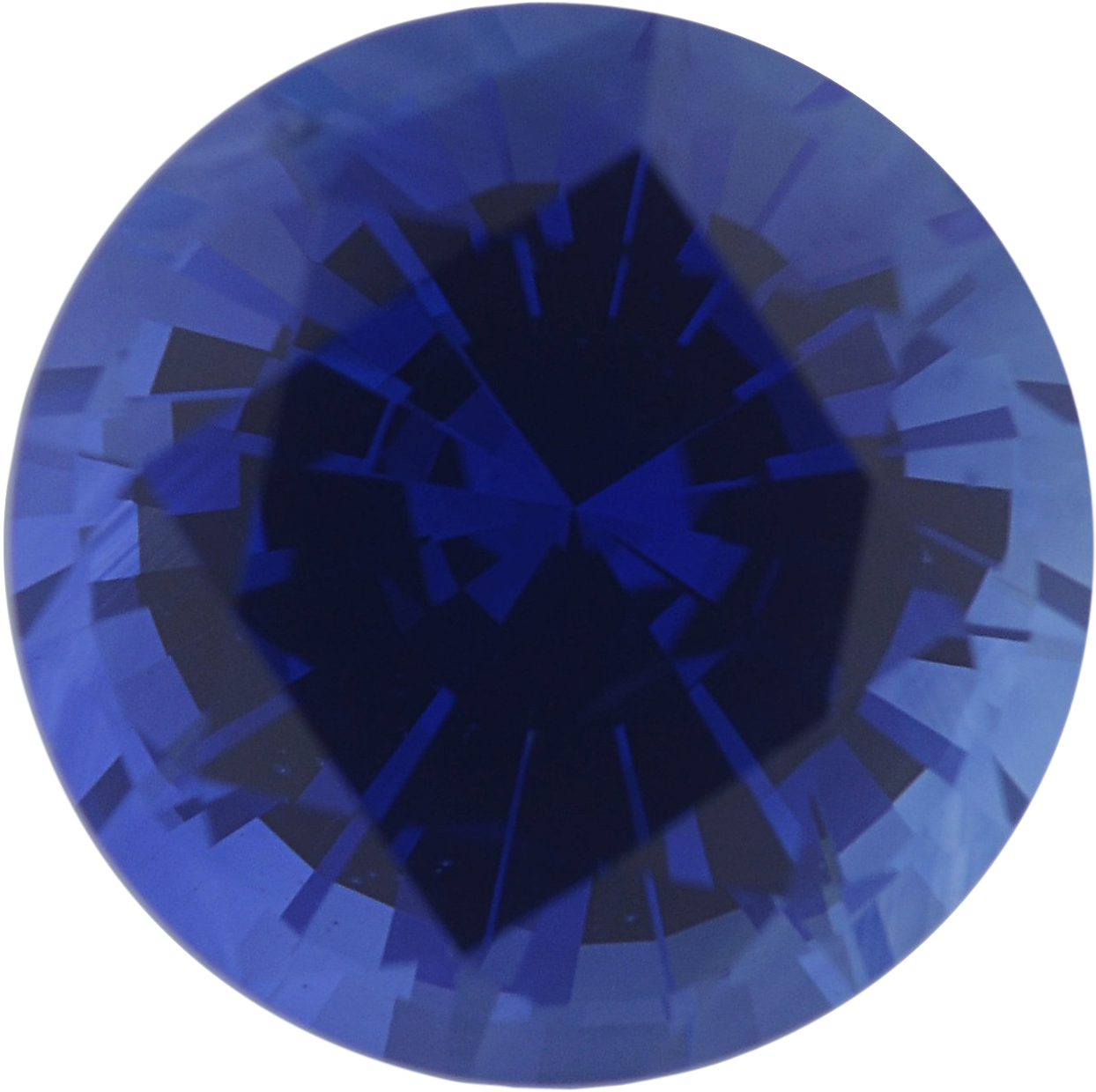 1.87 carats Blue Loose Sapphire Gemstone in Round Cut, 7.24 mm