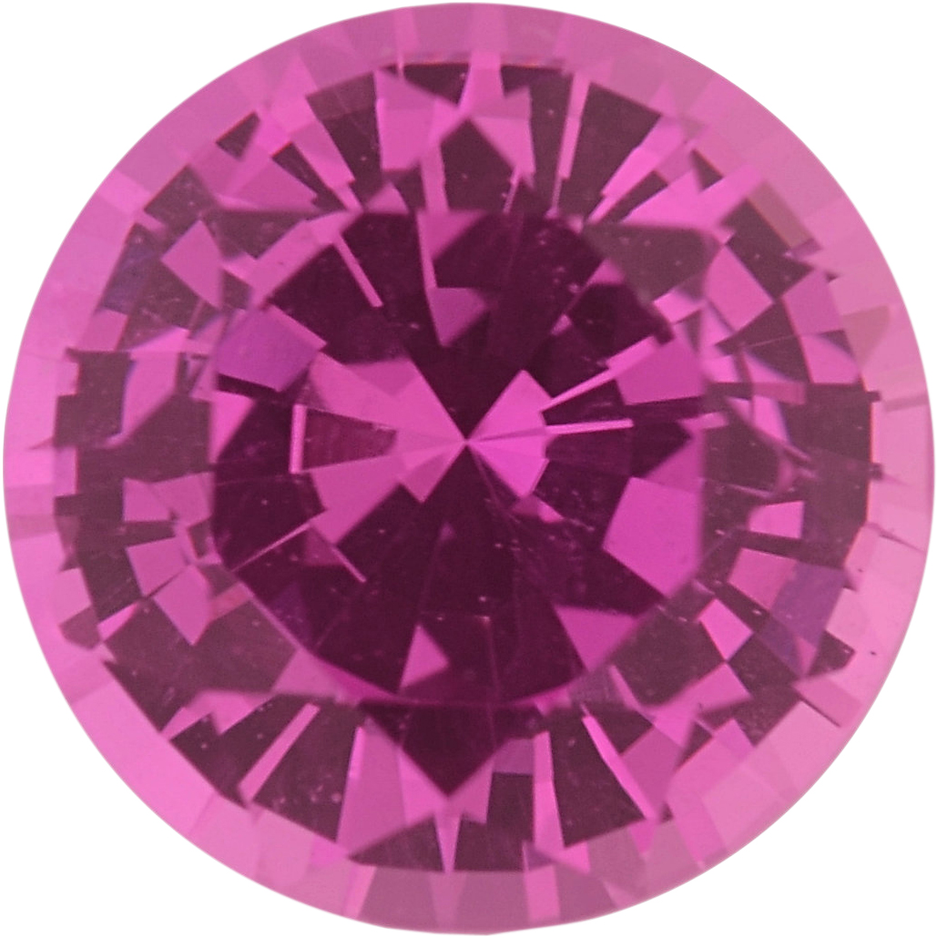1.04 carats Pink Loose Sapphire Gemstone in Round Cut, 6 mm