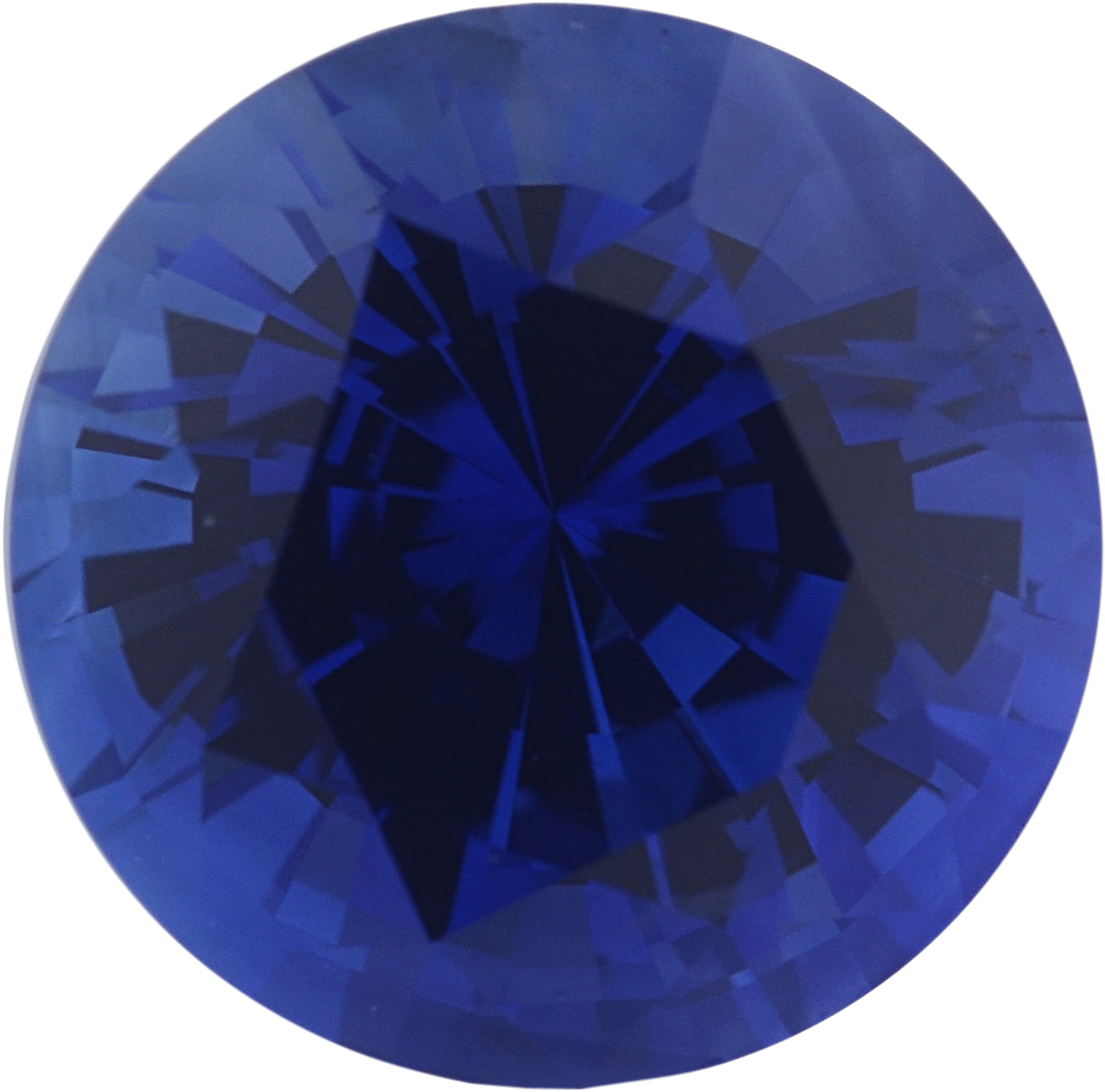 1.43 carats Blue Loose Sapphire Gemstone in Round Cut, 6.67 mm
