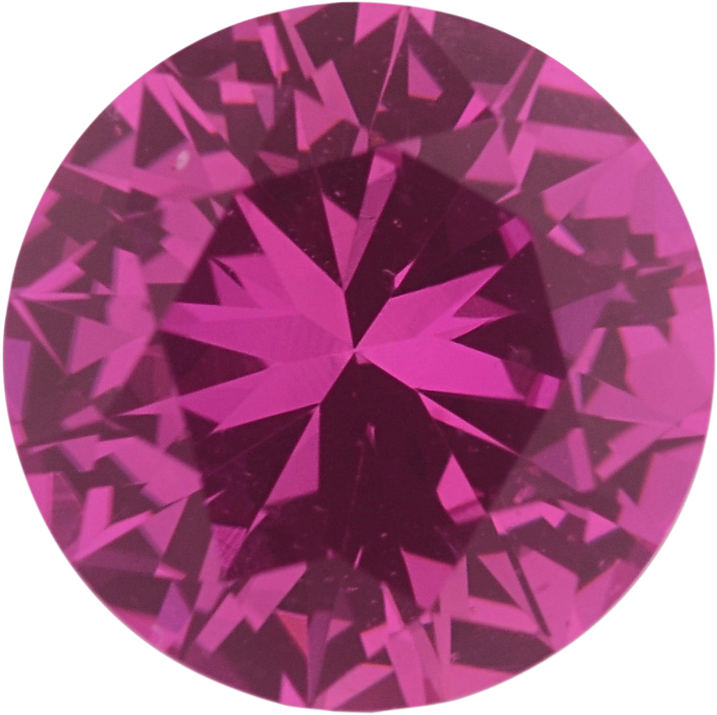 0.88 carats Pink Loose Sapphire Gemstone in Round Cut, 5.99 mm