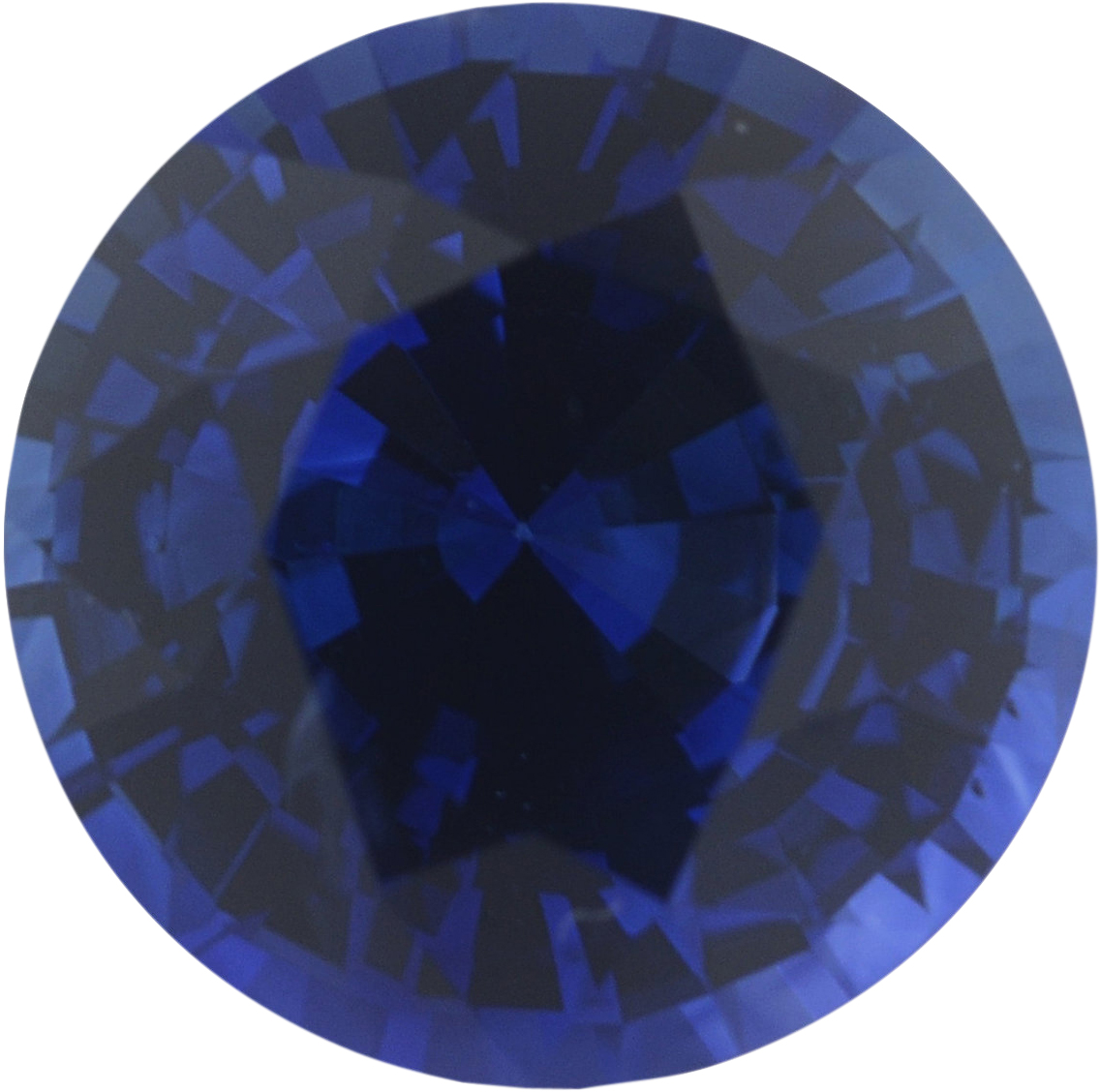 0.92 carats Blue Loose Sapphire Gemstone in Round Cut, 5.8 mm