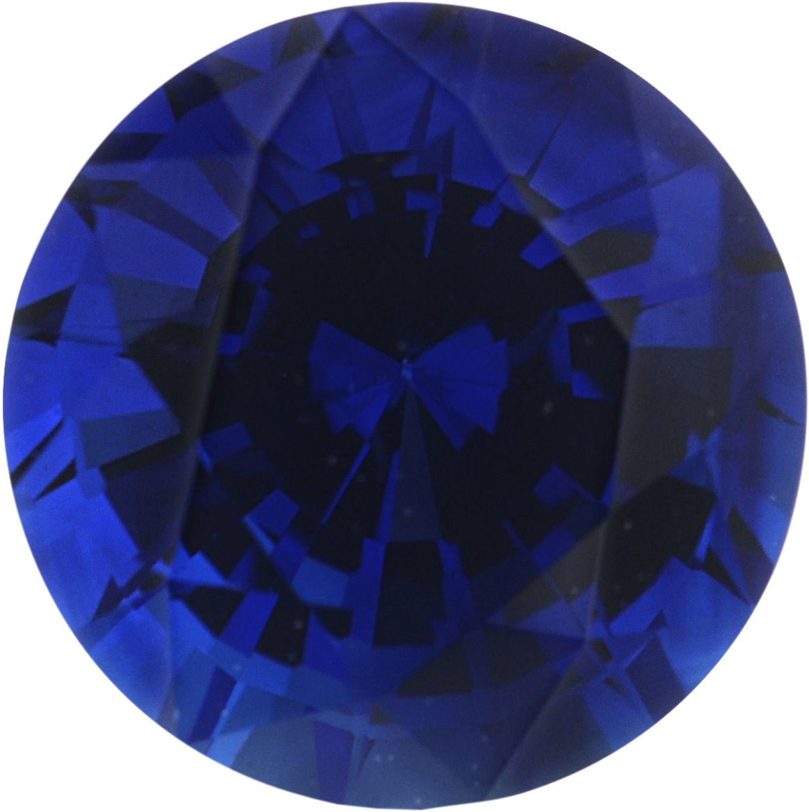 1.02 carats Blue Loose Sapphire Gemstone in Round Cut, 5.88 mm