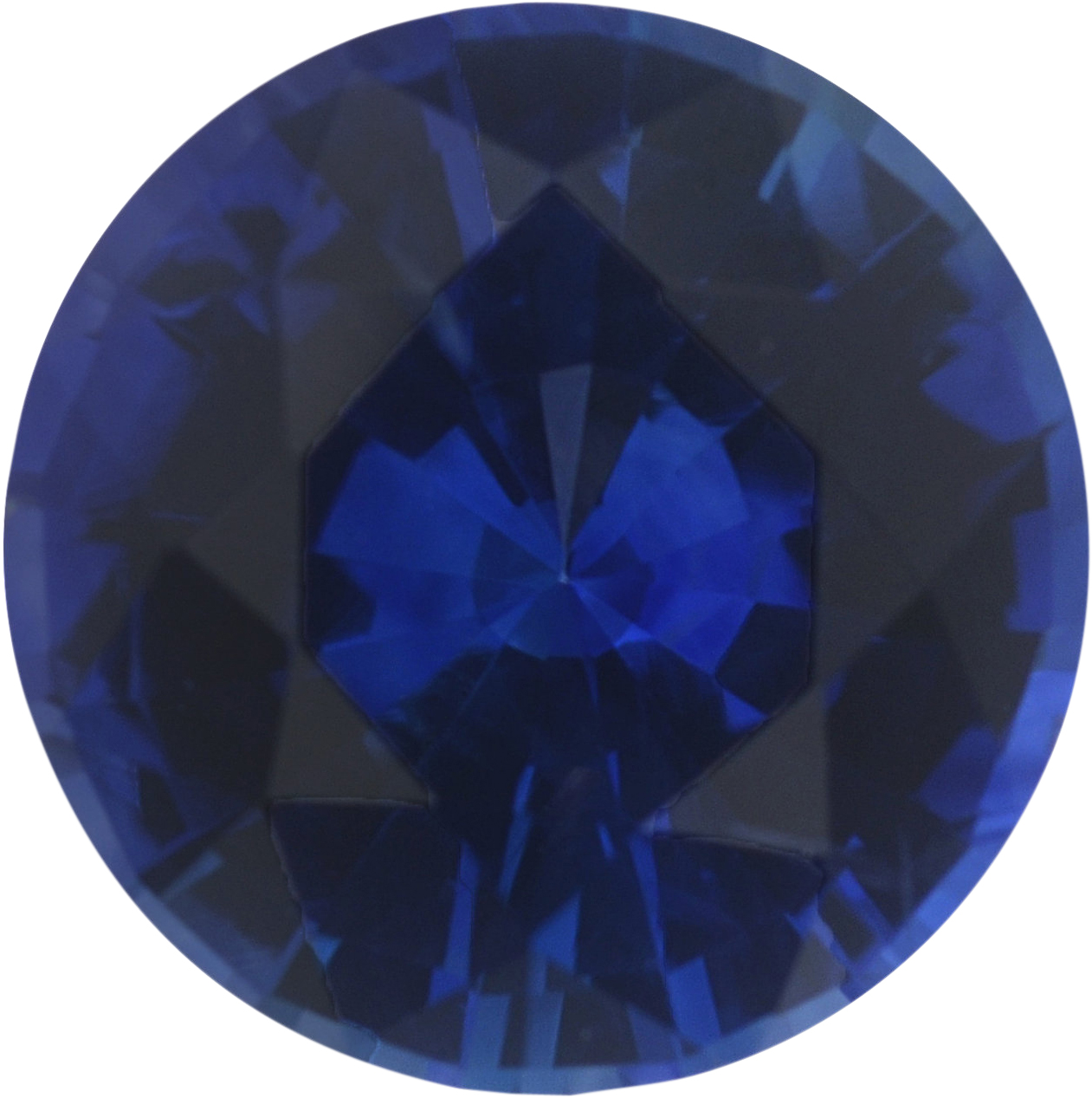 0.97 carats Blue Loose Sapphire Gemstone in Round Cut, 6.24 mm