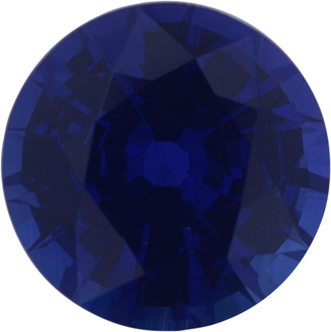 1.37 carats Blue Loose Sapphire Gemstone in Round Cut, 6.6 mm