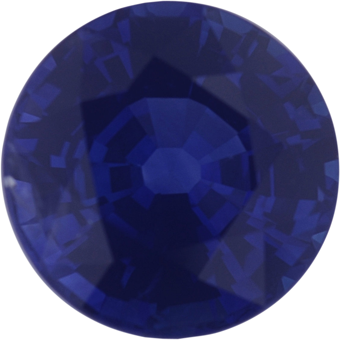 1.41 carats Blue Loose Sapphire Gemstone in Round Cut, 6.65 mm
