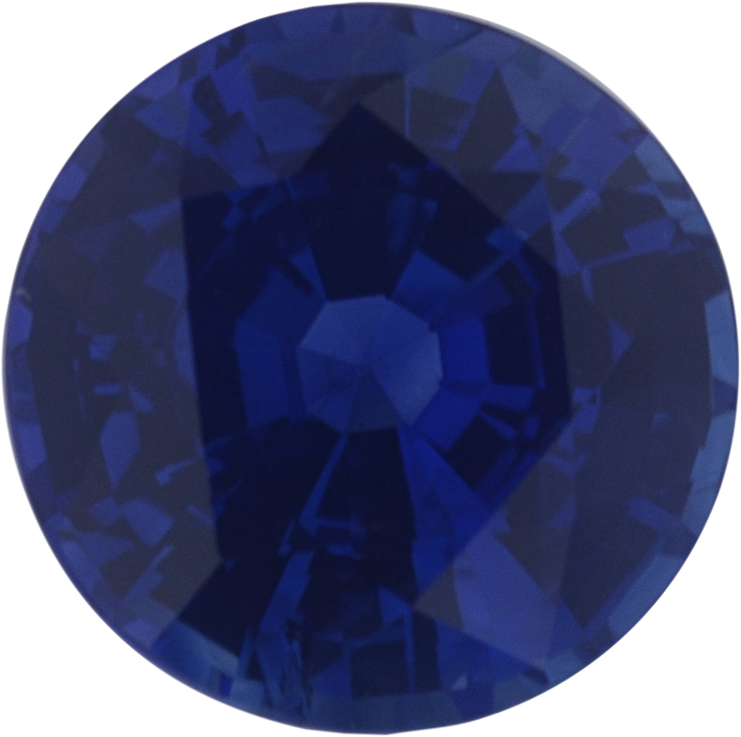 1.12 carats Blue Loose Sapphire Gemstone in Round Cut, 6.22 mm