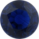 1.6 carats Blue Loose Sapphire Gemstone in Round Cut, 6.96 mm