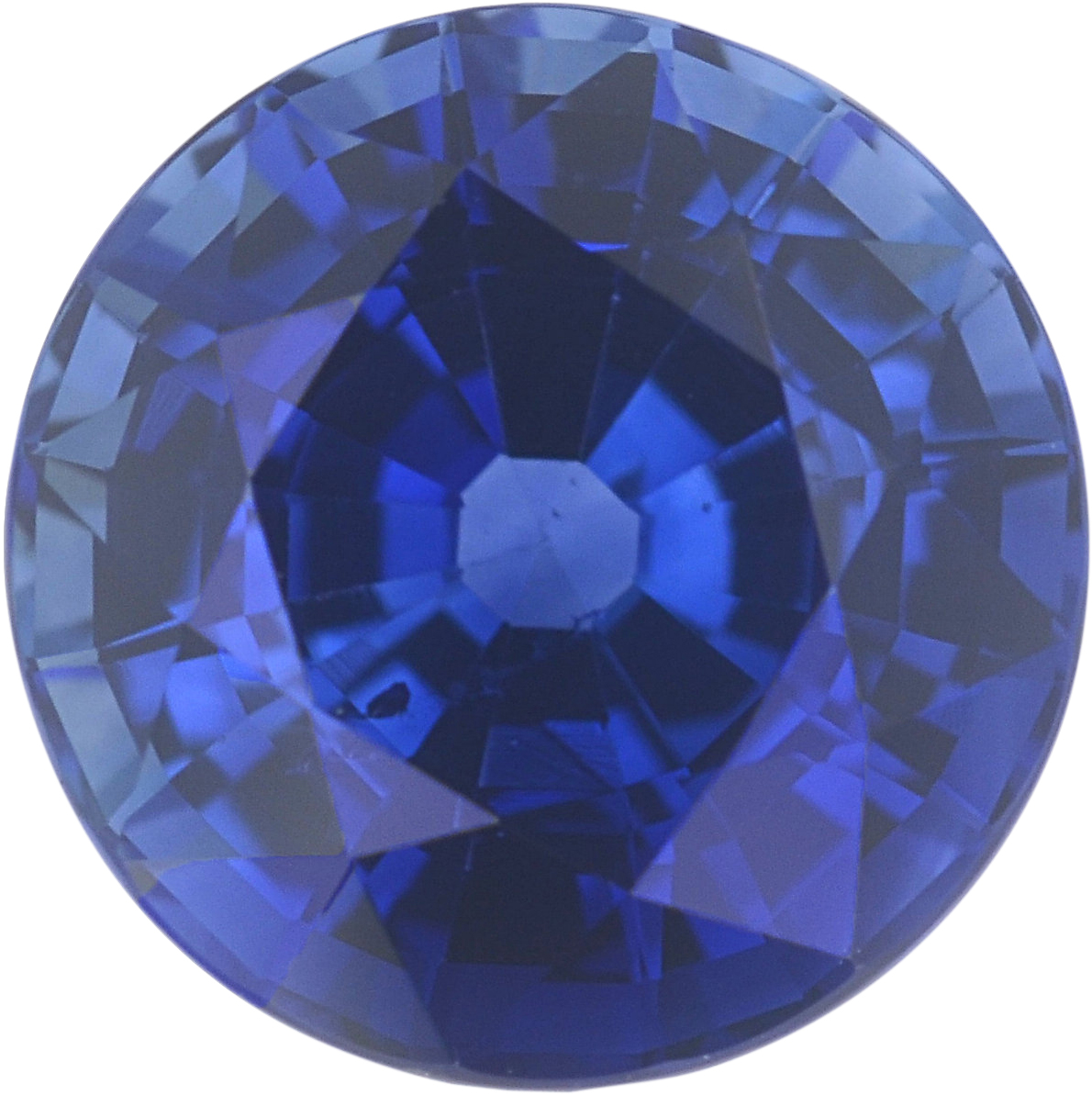 1.06 carats Blue Loose Sapphire Gemstone in Round Cut, 5.92 mm