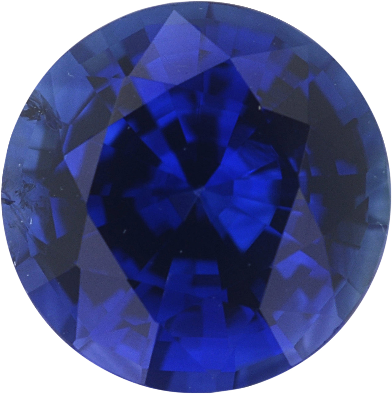 1.12 carats Blue Loose Sapphire Gemstone in Round Cut, 6.08 mm