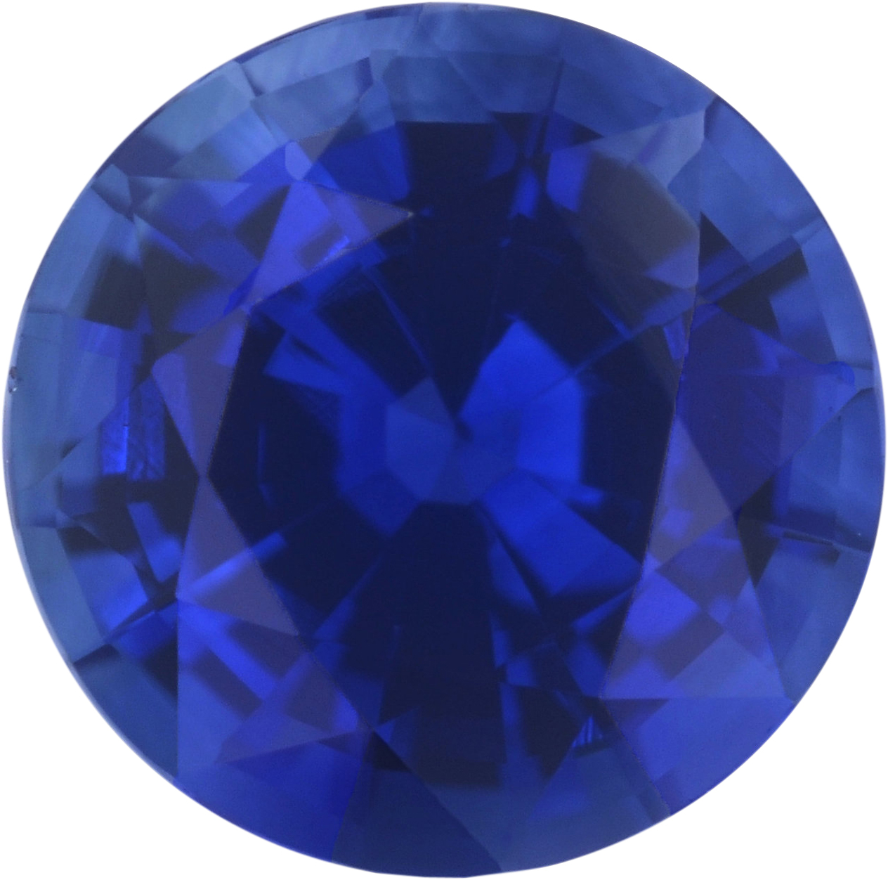 1.03 carats Blue Loose Sapphire Gemstone in Round Cut, 6 mm