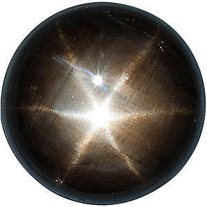 Round Shape Black Star Sapphire Loose Natural FINE, Quality Loose Gemstone Grade AA, 5.00 mm in Size