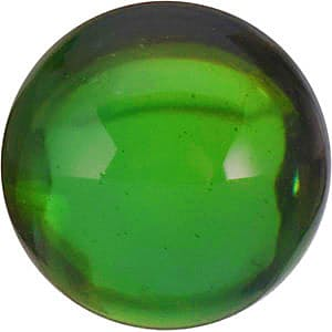 Round Shape Cabochon Green Tourmaline Gemstone Grade AA, 4.00 mm in Size, 0.35 Carats