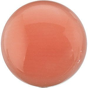 Round Shape Cabochon Pink Coral , Gemstone Grade AA, 7.00 mm in Size
