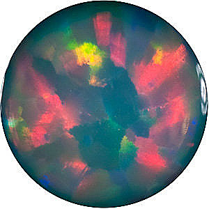 Round Shape Chatham Created Black Opal High Quality Gemstone Grade GEM, 9.00 mm in Size