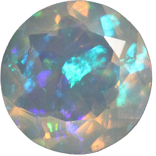 Round Shape Chatham Crystal Opal High Quality Gemstone Grade GEM, 6.00 mm in Size