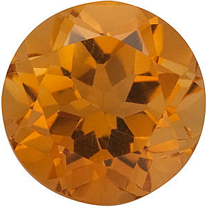 Round Shape Citrine Gemstone Grade AA, 6.50 mm in Size, 1 carats