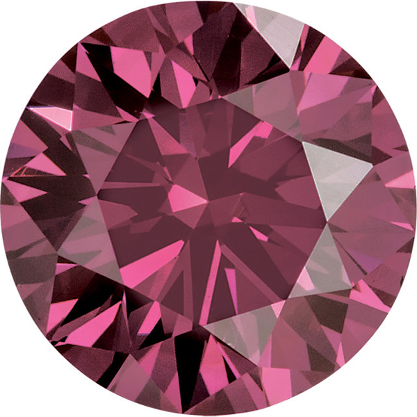 Round Shape Enhanced Pink Diamond SI Clarity, 3.00 mm in Size, 0.1 Carats