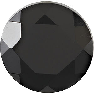 Round Shape Faceted Black Onyx Gemstone Grade AAA  Sized 2.50 mm