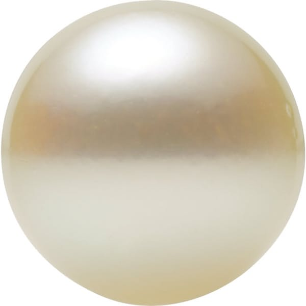 Round Shape Half Drilled White Akoya Cultured Pearl Grade A, 8.00 mm in Size