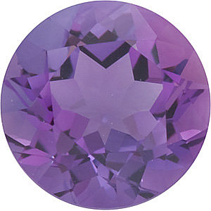 Round Shape Genuine Amethyst Loose  Gemstone   Grade A 0.48 carats,  5.00 mm in Size