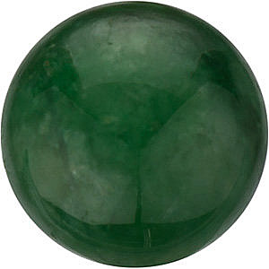 Round Shape Jadeite Genuine Real FINE, Quality Loose Gemstone Grade AA, 10.00 mm in Size
