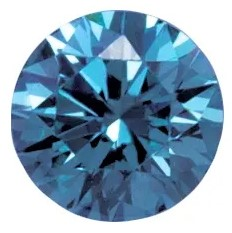 Deep Blue Laboratory Grown Diamonds in Round Shape