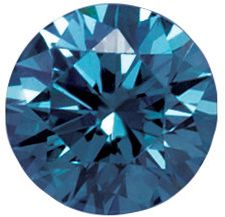 Lab Created Blue Color VS/SI Clarity Round Diamond Melee, 1.30 mm