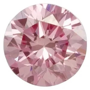 Lavender Pink Laboratory Grown Diamond in Round Shape
