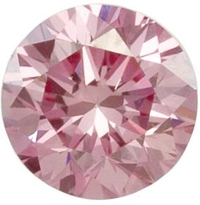 Lab Created Lavendar Pink Color VS/SI Clarity Round Diamond Melee, 2.80 mm