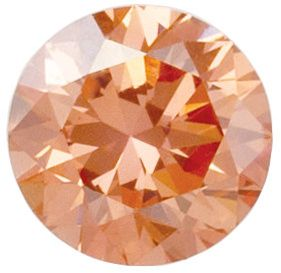 Lab Created Peach Color VS/SI Clarity Round Diamond Melee, 2.80 mm