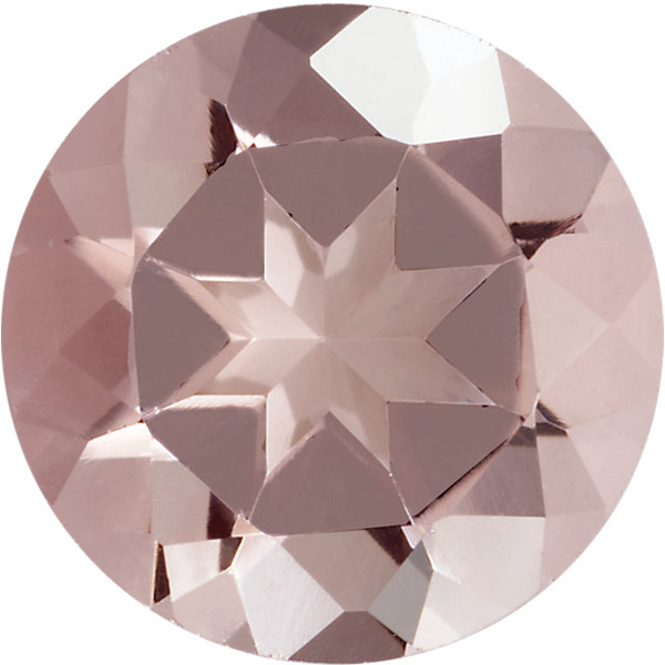 Round Shape Pink Morganite Gemstone Grade AA, 5.00 mm in Size, 0.48 Carats