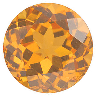Round Shape Spessartite Orange Garnet High Quality Loose Gemstone  Grade AA 2.25 mm in Size