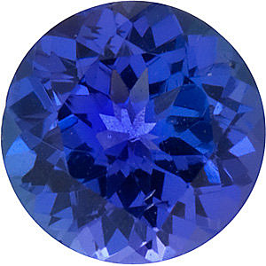 Round Shape Tanzanite Gemstone Grade GEM  6.00 mm
