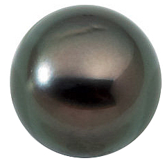 Round Shape Undrilled Dark Tahitian Cultured Pearl Grade A, 7.9 carats, 10.00 mm in Size