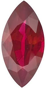 Ruby Stone, Marquise Shape, Grade AA, 8.00 x 4.00 mm in Size, 0.7 Carats