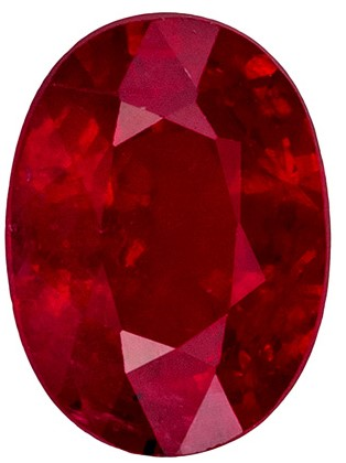 Bargain Ruby Ring Gemstone 1.19 carat Oval shaped gemstone, 7.1 x 5.2 mm