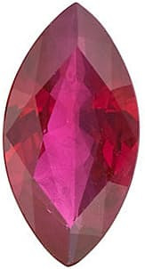 Ruby Stone, Marquise Shape, Grade A, 4.25 x 2.25 mm in Size, 0.13 Carats