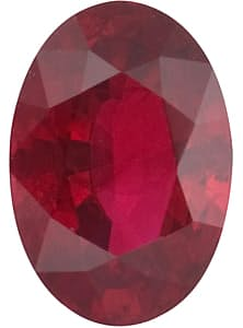 Ruby Stone, Oval Shape, Grade A, 6.00 x 4.00 mm in Size, 0.6 Carats