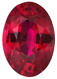 Ruby Stone, Oval Shape, Grade AA, 4.00 x 3.00 mm in Size, 0.25 Carats