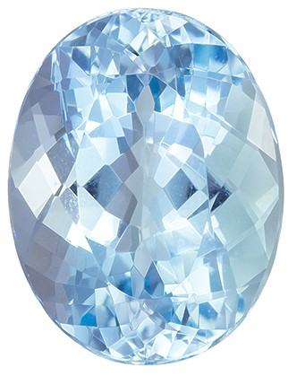 Selected Aquamarine Gemstone, 4.41 carats, Oval Cut, 12.1 x 9.4 mm, Must See This Gem