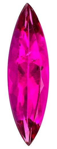 Serious Gem in 1.36 carats Tourmaline Loose Gemstone in Marquise Cut, Medium Fuchsia, 15.6 x 4.6 mm
